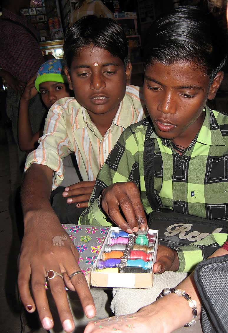 Handpainting By Varanasi Local Boys