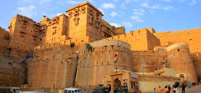 Jaisalmer Fort - Majestic Rajasthan with Taj Mahal - Indian Panorama